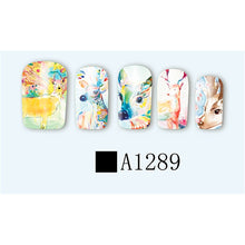 ZKO Sheet Nail Water Transfer Decals Animals Dog Owl Cat Nail Stickers UV Gel Decoration Makeup Tools A1273-1296 - sellhotproducts