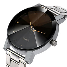 Watches Women Crystal Bracelet Wrist Men Band Quartz Stainless Steel - sellhotproducts