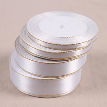 Ribbon Solid Color Decoration Gift Wrapping Sewing Fabric 25 Yards White Silk Satin - sellhotproducts