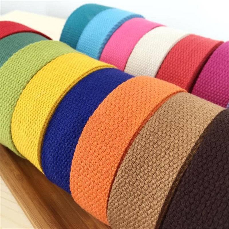New 25mm 10 meter Canvas Ribbon Belt bag webbing/lable ribbon/Bias binding tape Diy craft projects free shipping - sellhotproducts