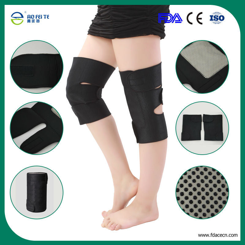 Tourmaline Products Knee Support Self Heating Braces Magnetic Belts Medical Knee Braces Sports Safety Gear 1 pair  AFT-H005 - sellhotproducts