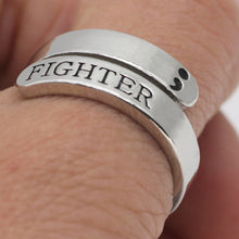 Ring Jewelry Mental Health Awareness Fighter Ring Motivational Open Ring - sellhotproducts
