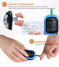 On Call EZ IV Glucose Meter Diabete with test strips and Needles Glucometor Digital Blood Glucosemetro - sellhotproducts