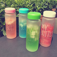 Water Bottles 500mL PP Material Frosted Leak-proof Health Portable tools sumer autumn Outdoor Sport Water Bottle Candy Color CF - sellhotproducts