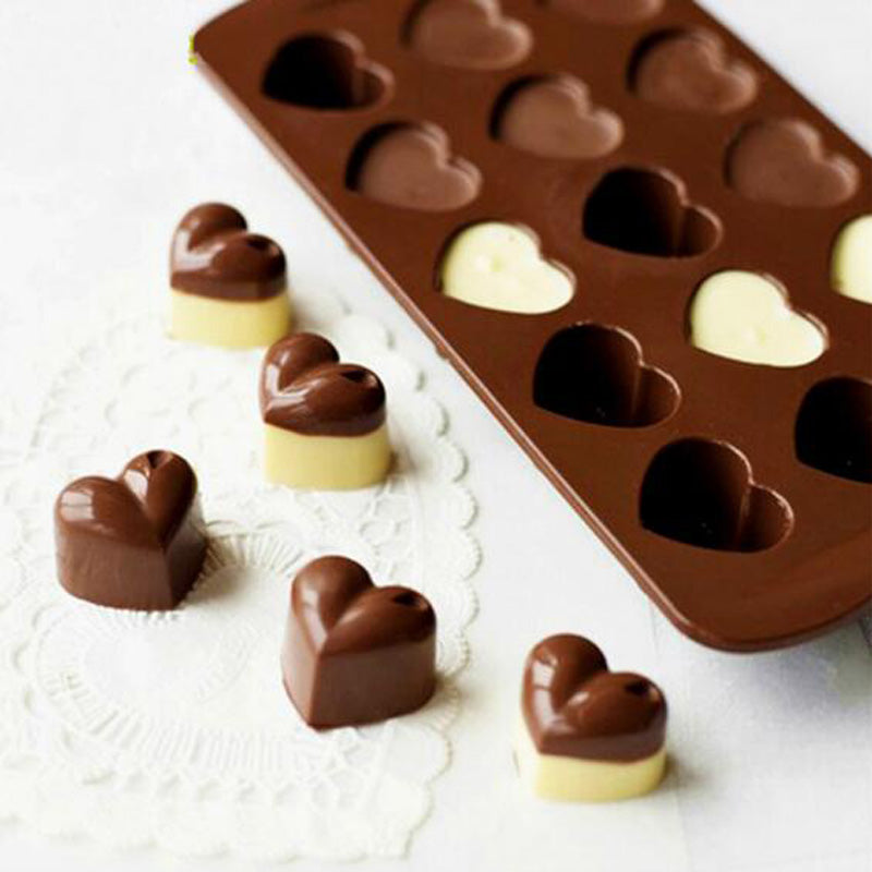 Non-stick Silicone Chocolate Molds Love Heart Shaped Ice Molds Cake Mold Baking Tools - sellhotproducts