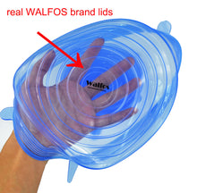 Walfos 6 pieces reusable kitchen tools bowl cover pan lid -Premium stretch silicone lids- stretch silicone bowl lid - sellhotproducts