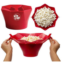 New Microwave Silicone Popcorn Bowl Kitchen Easy Tools Eco-Friendly - sellhotproducts