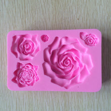 Silicone cake molds 3D Big Rose Flower Cake Mold Tools Cake Decorating - sellhotproducts