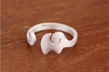 Silver Plated Jewelry Vintage Elephant Cute Rings for Women for Lovers Wedding Gift - sellhotproducts