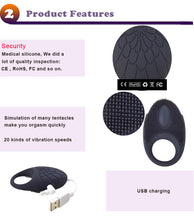 Silicone Vibrating Ring Toys for Men Male Vibrator Delay Ejaculation for Men Products Prostate