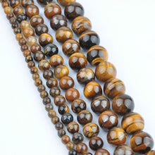 Tiger Eye Round Natural Stone Mirror Loose Beads For Jewelry Making Diy Bracelet Supplies - sellhotproducts
