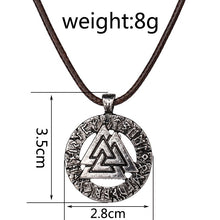 Pagan amulet pendant Men necklace Scandinavian Viking jewelry Odin 's Symbol of Norse Norway