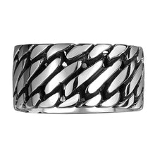 Stainless Steel Linking Ring Glossy Cuban Linked Gothic Style Men's US Size 8 9 10 11 Party - sellhotproducts
