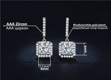 Square Vintage Bridal Earring And Necklace Sets AAA Cubic Zirconia Wedding Jewelry Sets White Gold Color Parure Bijoux ASM005 - sellhotproducts