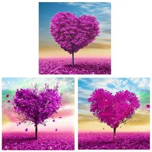 Pictures design 3 love heart flower tree 5D Diamond Painting Embroidery Cross Stitch DIY Mosaic crystal needlework picture
