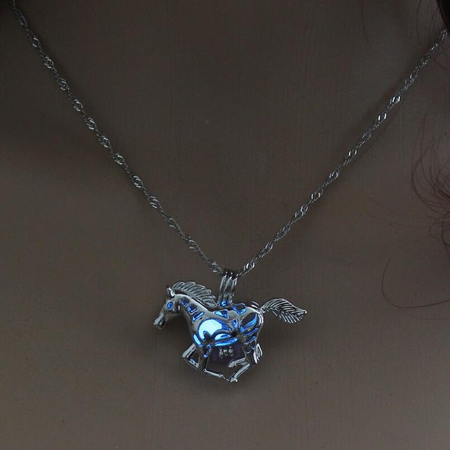 Smart Running Horse DIY Locket Cage Glowing in the Dark Animal - sellhotproducts