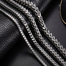 Stainless Steel Link Necklace Men 18-30 inch 3-6MM Colar Masculino Cuba Long Curb Double Chain Necklaces - sellhotproducts