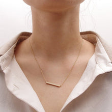 Long Chain Necklaces Square Bar Clavicle for Women Diy Pendant - sellhotproducts
