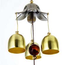 LS4G Hanging Wind Chime Bell Chinese Oriental Lucky Metal Pagoda Feng Shui Brass Buddha Elephant Spitor Fortune Lijiang Style - sellhotproducts