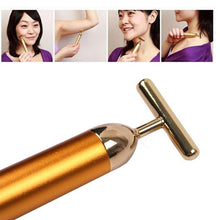 Slimming Face Gold Vibration Facial Beauty Roller Massager Stick Lift Skin Stick Bar Face Care Tool