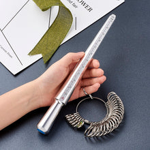 Jewelry Measuring Tool Sets, with Aluminium Ring Size Sticks Ring Mandrel and Alloy Ring - sellhotproducts