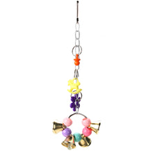 Stand Rack Colorful Bell Chew Bird Toys Parrot Hanging Acrylic Bites Cage Accessory - sellhotproducts