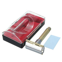 New Men's Safety Handheld Manual Shaver + Double Edge Safety Razor Blade Box M01449 - sellhotproducts