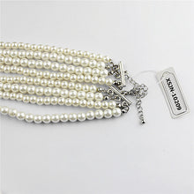Popular women's jewelry girl wedding birthday party beautiful multi-layer imitation pearl necklace