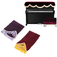 Piano Half-Cover - Dust Guard - Practical 88 Key Electronic Cover - Pleuche Decorated