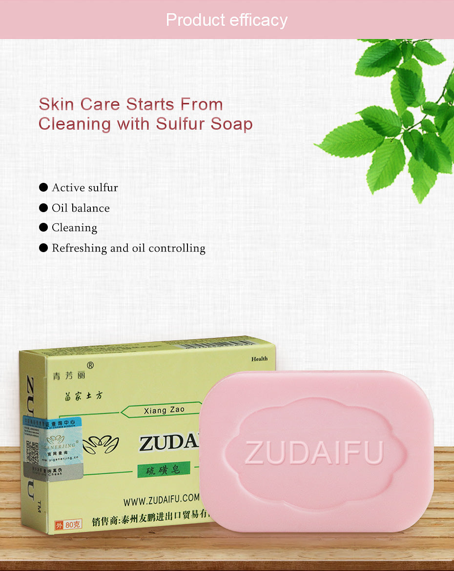 Sulfur Soap - Skin Conditions Acne - Psoriasis Seborrhea - Eczema Anti Fungus Bath - Whitening Soap Shampoo