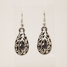 Unique Tibetan Silver Color Hollow Water Drop Dangle Vintage Earrings For Women Jewelry