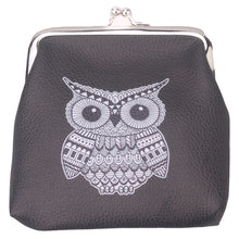 Owl Coin Purse, Elephant Pattern Wallet Card Holder Coin Purse Ladies Purse