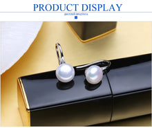 Stud earrings, freshwater pearl earrings for women gift 925 sterling silver engagement jewelry