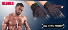 Strong Gym Fitness Gloves Academia Power Training Weight Lifting Dumbbell Sports Crossfit Barbell Fingerless Half Finger Gloves - sellhotproducts