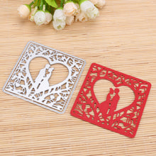 Wedding Couple Square Frame Metal Cutting Dies Stencils for DIY Crafts Embossing Template