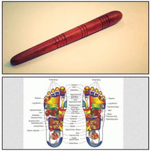 Reflexology Health Thai Foot Massage Wooden Stick Tool With Chart FREE SHIP From THAILAND