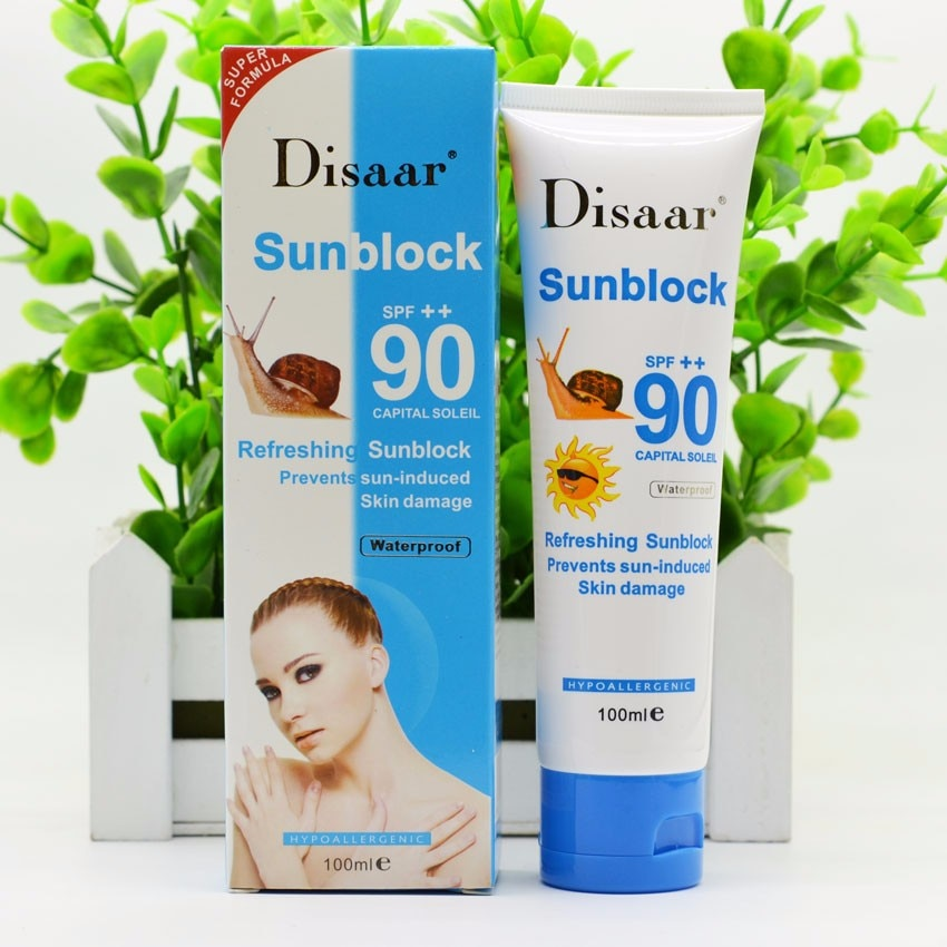 Snail sunscreen cream 100ml,Protection Face Cream Disaar Sunblock 90++ Protective Cream Pigmentation SPF
