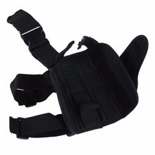 Tactical Pouch with Adjustable Magic Strap Pistol Drop Leg Thigh Holster w/ Mag Pouch Right Hand Outdoor