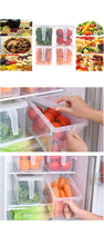 Refrigerator Storage Kitchen Boxes Transparent PP Storage Grains Box Sealed Organizer Food Container