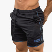 Summer Style Mens Slim shorts Calf-Length Fitness Bodybuilding Male Casual Workout Breathable Mesh Short Pants