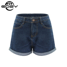 Plus Size High Waist Denim Shorts For Women Casual Blue Cotton Short Jeans 2016 Summer Design Femme Short Trousers 2 Colors - sellhotproducts