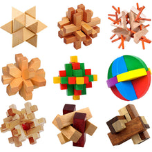 Kong Ming Luban Lock Chinese Traditional Toy Unique 3D Wooden Puzzles Classical Intellectual Wooden Cube Educational Toy Set - sellhotproducts