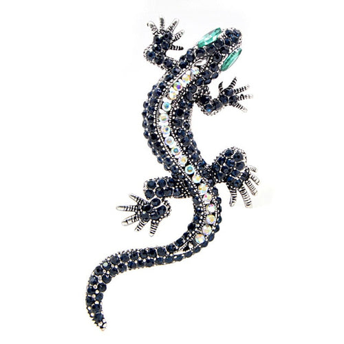 Lizard Pins Crystal Brooch Fashion Jewelry for Women and Man Dress Suit T-shirt Accessories