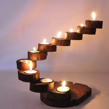 Retro Wooden Thailand Originality Candlestick Candle Holders Creative Handmade Hotel Restaurant Ornament Home Romantic