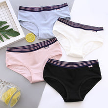 Simple Style Solid Cute Underwear Women Cotton Panties Girl Soft Physical Underwear Briefs