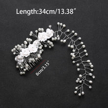 ็Handmade hair combs Bridal floral headband women pearl jewelry tiara wedding accessories hair ornaments