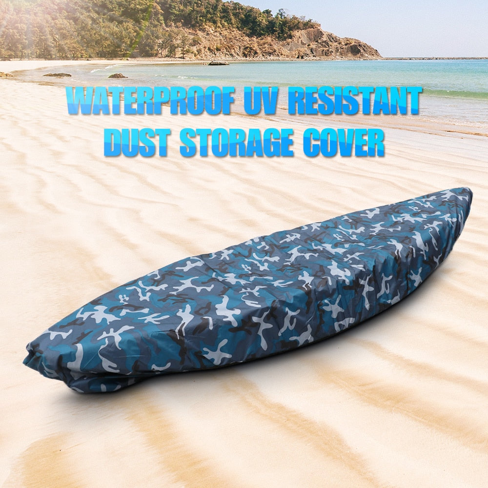 Universal Boat Cover Camouflage Kayak Canoe Boat Waterproof UV Resistant Dust Storage Cover