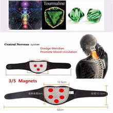 Neck Guard Self-heating Brace Magnetic Therapy Wrap Protect Tourmaline Belt Spontaneous Heating Neck