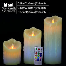 Remote Control Color Change LED  Wax Candles Flameless Breathing Sparkling Candle Night Lights Decoration