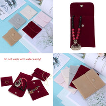 Jewelry Bag Storage Portable Soft Lint Velvet Flannel Bracelet Necklace Gift Bag Jewelry Storage